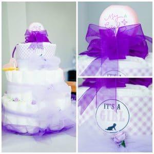 baby shower diaper cake diy