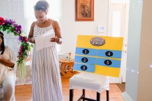 baby q game - family feud game for shower