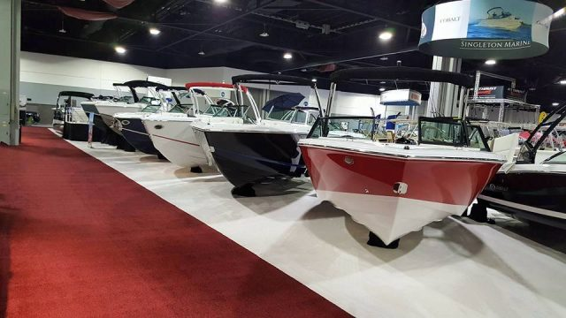 show floor line up at the atlant boat show