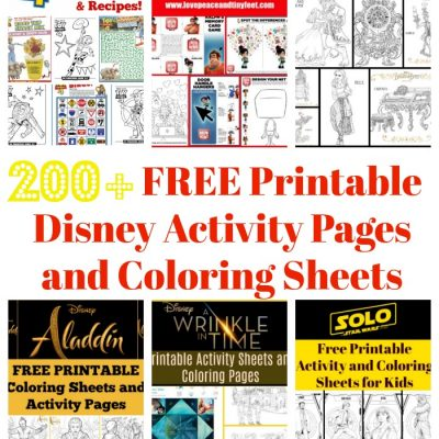 200+ FREE Disney Printables – Activity Sheets, Coloring Pages and Recipes