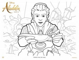 Free ALADDIN COLORING PAGES FOR KIDS