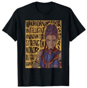 shuri word art t shirt: Marvel Fan Art T-Shirts