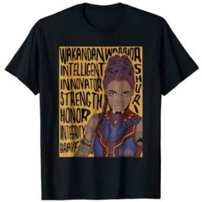 shuri word art t shirt
