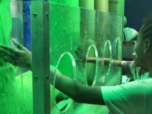 nickelodeon slime city atlanta - touching slime