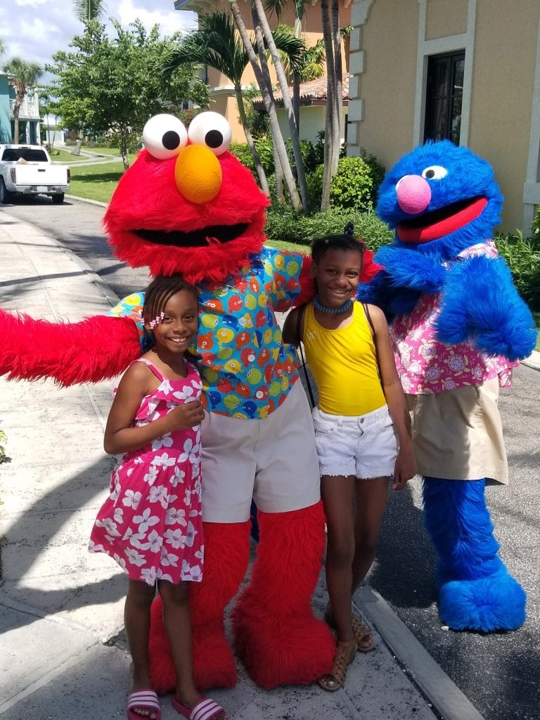 where to see sesame street characters at beaches turks and caicos