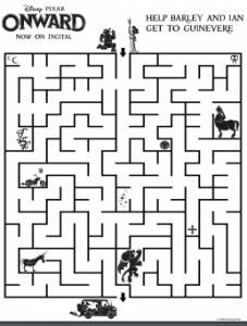 Onward Printable Activity Sheet Maze