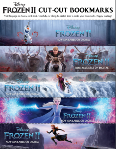 Disney Frozen 2 Printable Bookmarks for Kids