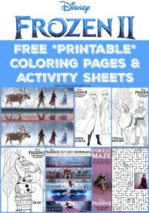 Free Disney Printables - Frozen 2 Coloring Pages and Activities for kids