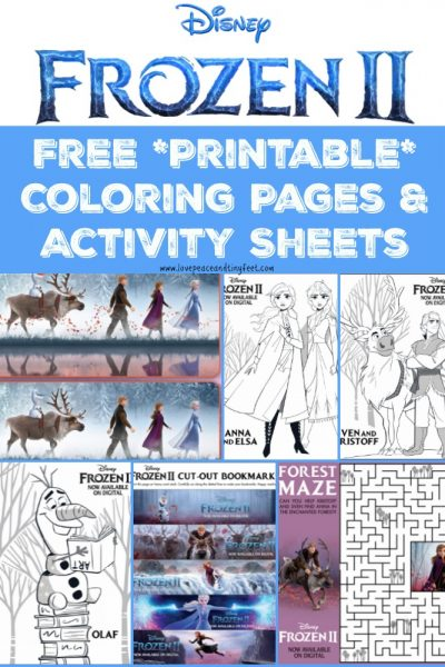Frozen 2 Coloring Pages and Activities for Kids – Free Disney Printables