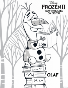 Frozen 2 Olaf coloring pages