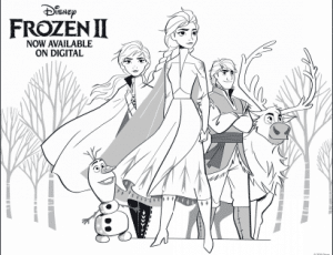 Disney Frozen 2 Coloring Pages for Kids - Elsa and Anna