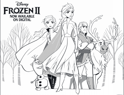 Frozen 2 Coloring Pages and Activities for Kids - Free ...