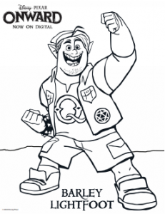 Onward Disney Coloring Pages for Kids free printable