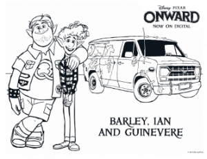 Owward Coloring Pages - Bariy Ian and Guinevere