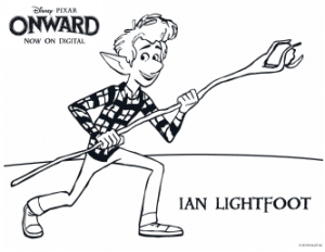 Onward Coloring pages - Ian Lightfoot coloring page