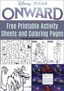 Free printable activity sheets and coloring pages from disney/pixar's onward on Disney plus