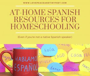 At home spanish resources for homeschooling.