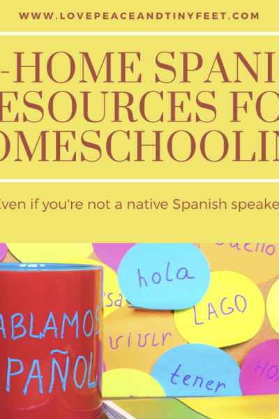 At Home Spanish Lessons for Homeschooling (Even if you don't speak Spanish)