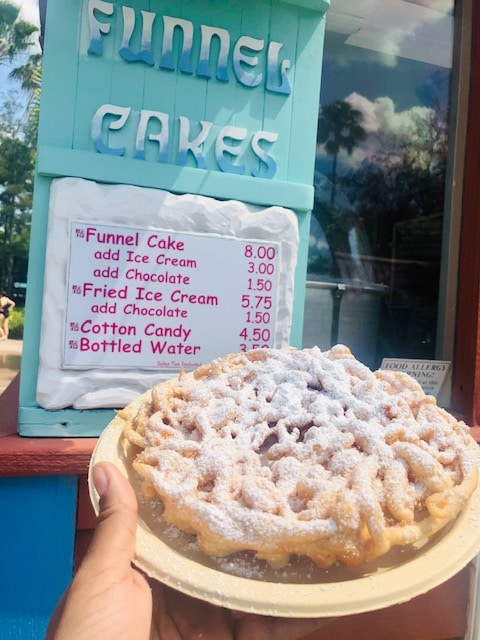 funnel cake at blizzard beach